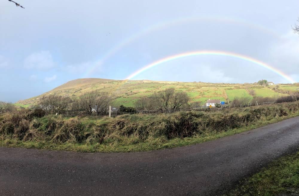 """Double Rainbow in Glenbeigh"" by Mary Riordan"