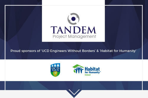 UCD Engineers without Borders, Habitat for Humanity, Tandem Project Management